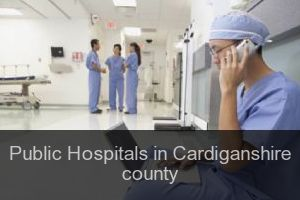 Public Hospitals in Cardiganshire county