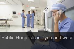 Public Hospitals in Tyne and wear
